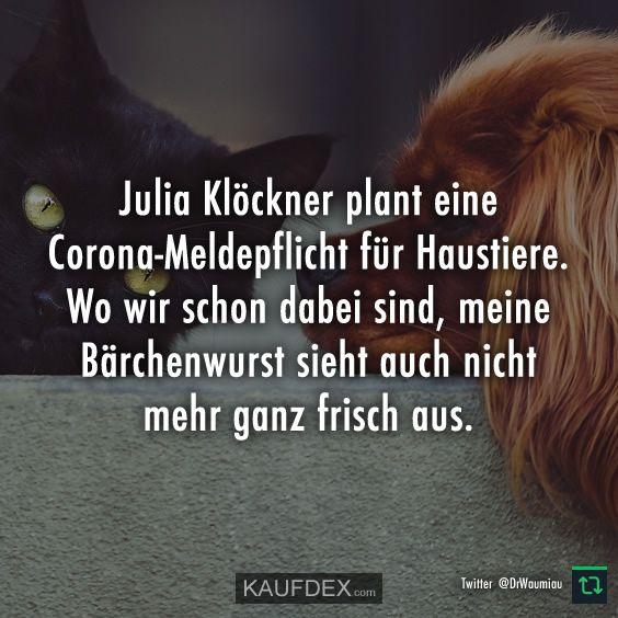 Julia Klockner Plant Eine Corona Meldepflicht Kaufdex In 2020 Julia Klockner Lustige Zitate Spruche