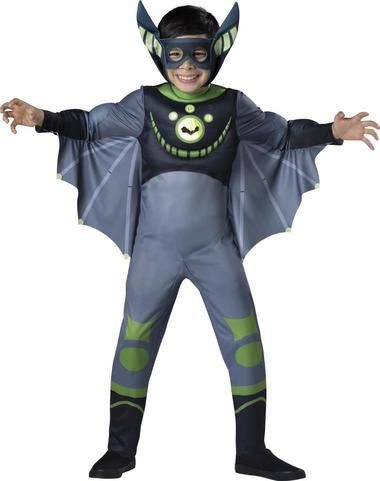 Wild Kratts Quality Bat Green Child