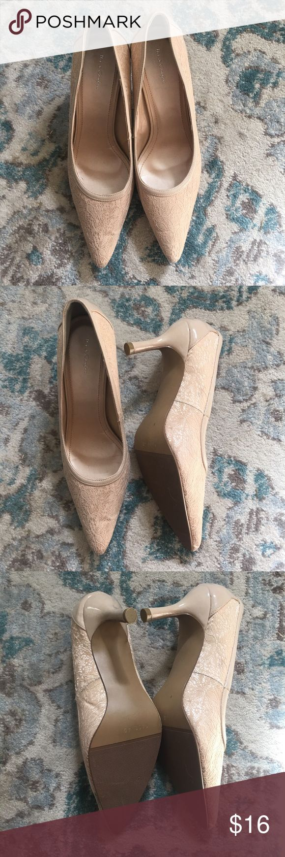 NWOT Cream lace pumps Beautiful and classy cream pumps with beautiful lace detail. Bought to wear for a wedding I was in, but found a different pair of shoes to wear instead, so these have never been worn except to try on. Mix & Comfort Shoes Heels
