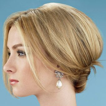 short+hairstyles+for+mother+of+groom | Modern, Romantic Wedding Updo | Wedding Hairstyles Photos | Brides.com
