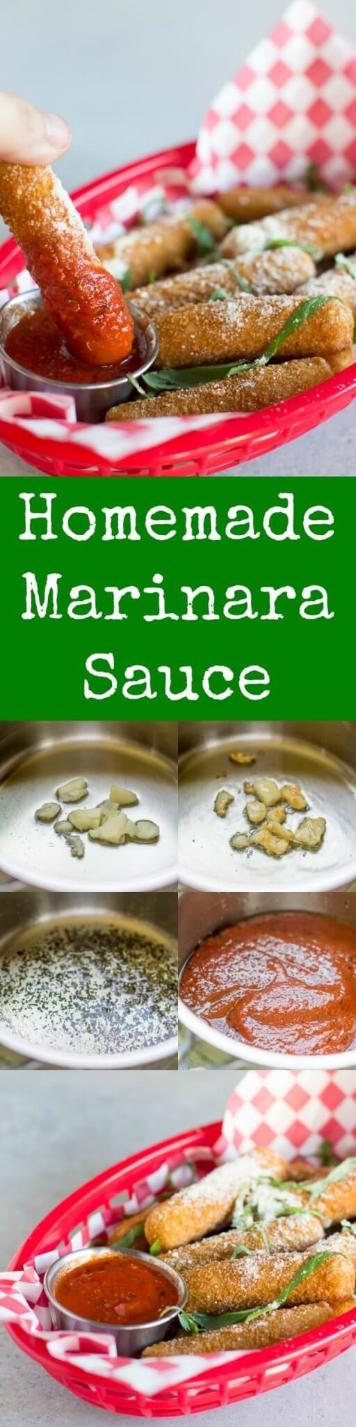 This homemade Marinara Sauce is ideal for dipping all your favorite appetizers. It's fast and easy made with just 5 pantry ingredients and ready in minutes!