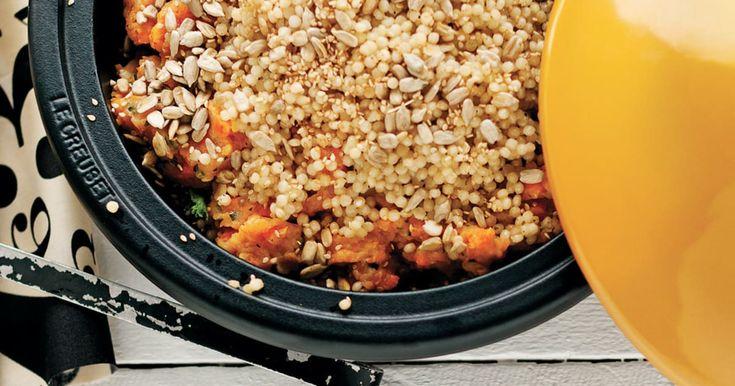 Découvrez cette recette de Parmentier de couscous israélien et cari de carottes pour 4 personnes, vous adorerez!