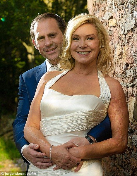 Just married: Amanda Redman and her new husband Adrian Schnabel following their wedding ceremony at Maunsel House in Taunton, Somerset on Saturday