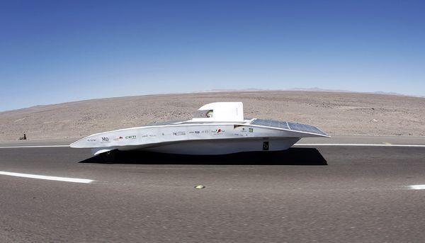 Cars Capture Solar Energy in the Chilean Desert