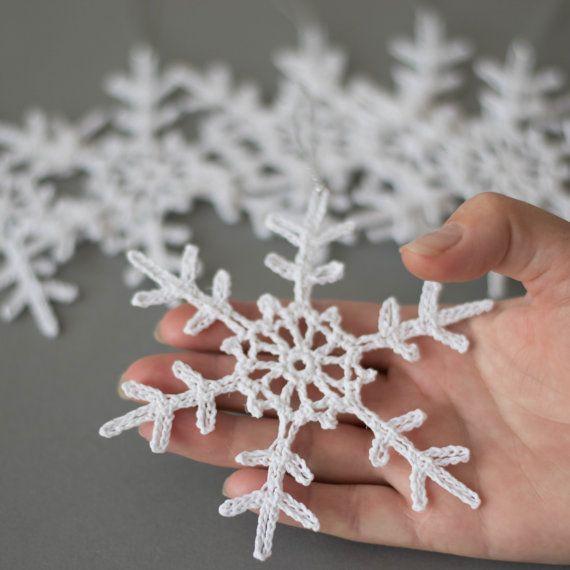 Juego de 6 copos de nieve de ganchillo por SevisMagicalStitches