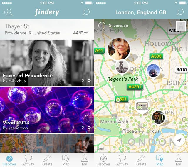 Findery App - the very useful website and app to discover new places in a new style...as each place has it own story....