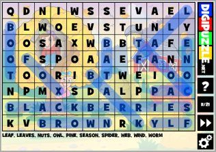 Fall Wordsearch Puzzles