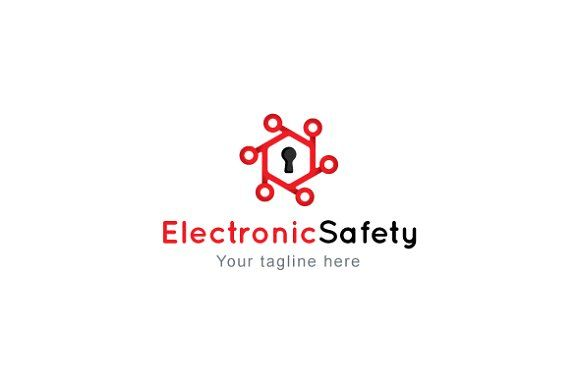 Electronic Safety Stock Logo Templat by VecRas on @creativemarket