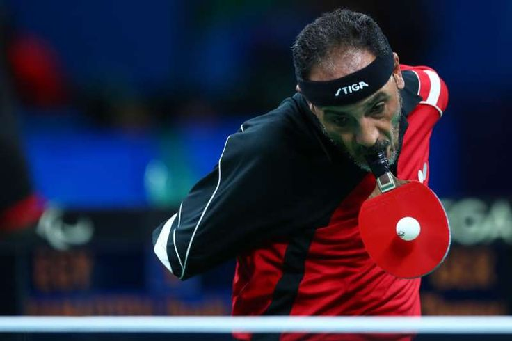 The best sports pictures of 2016:      Ibrahim Hamadtou of Egypt in the men's singles Table Tennis ‐ Class 6 at the Rio 2016 Paralympic Games on Sept. 9 in Rio de Janeiro, Brazil.