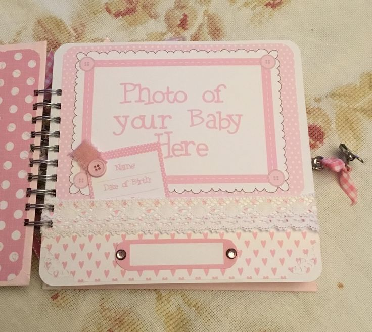 Album page from Stamperia Baby Bears Girl paper