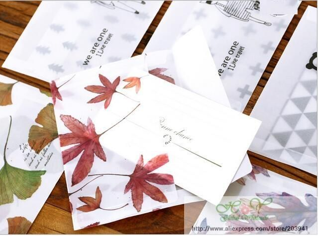 Hot selling 8pcs/pack new arrival fashion cute Cartoon Cocoa Kingdom series Transparent Sulfuric acid paper Envelope.card bag.of