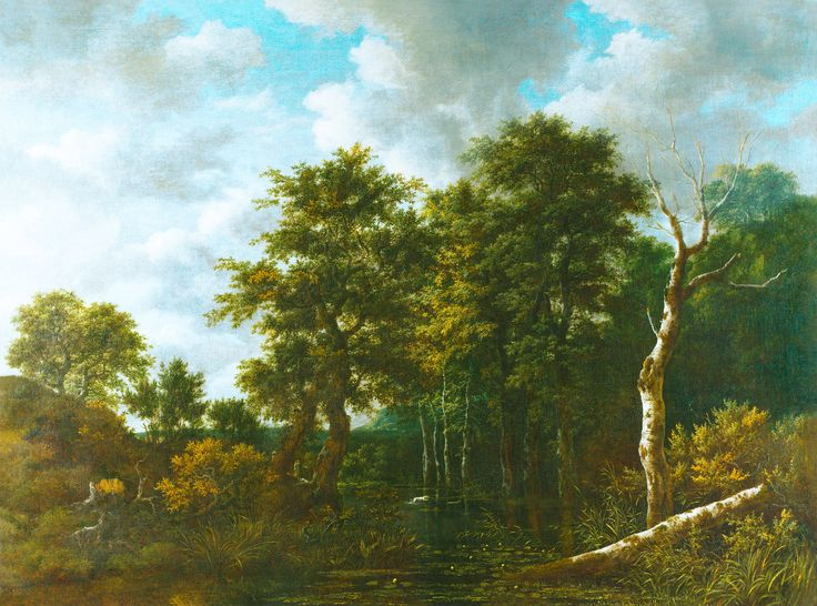 Jacob van Ruisdael, «A Pool surrounded by Trees», c. 1665-70