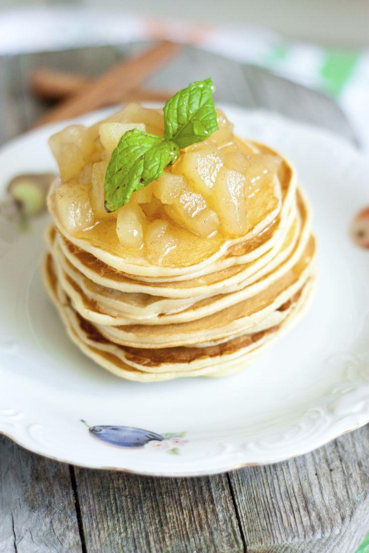 20 maneras de cocinar manzana. Panqueques de manzana al rhum