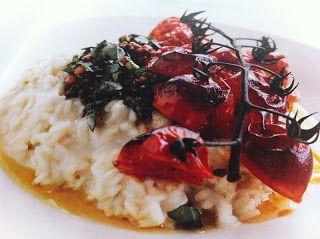 Sé delicioso!: Risotto con pesto y tomate cherry asado / Risotto ...