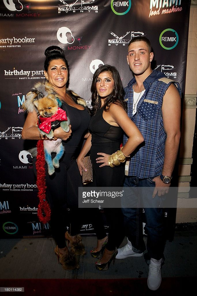 Angela 'Big Ang' Raiola (1960-2016), Raquel and AJ attend the MIAMI MONKEY Premiere Party Presented By JustJenn Productions And The Weinstein Company at 49 Grove on September 8, 2013 in New York City.