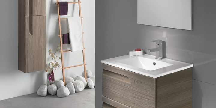 Earthy naturals bathroom furniture from Bella Bathrooms (Frontline Vitale collection)