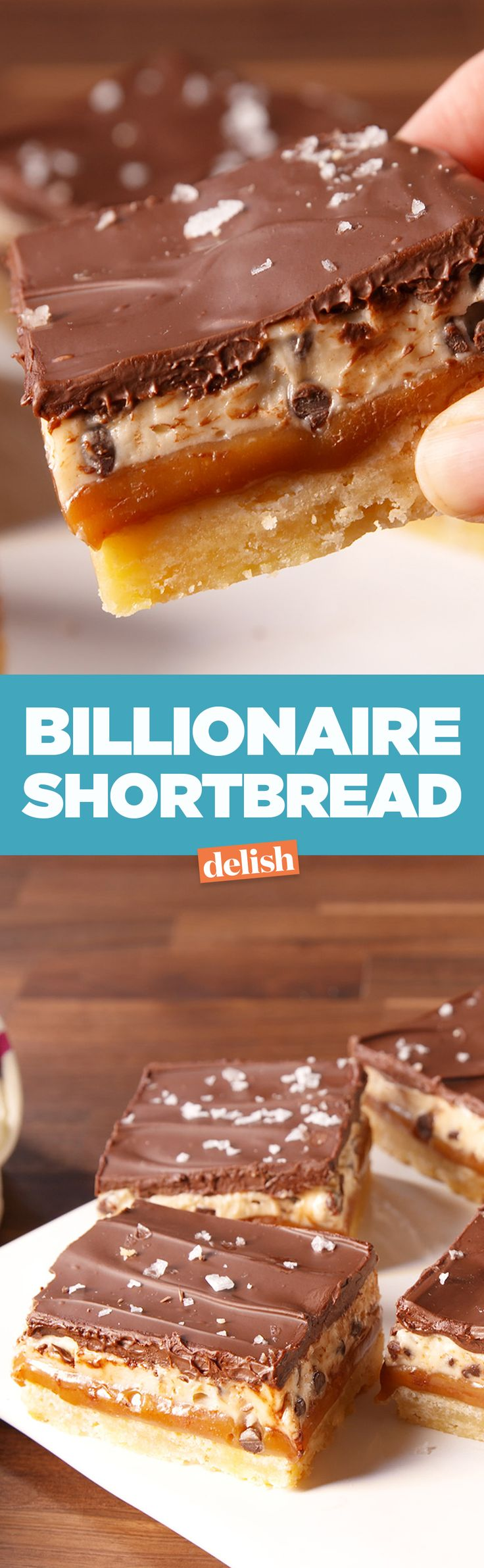 This billionaire shortbread tastes rich, seriously. Get the recipe on Delish.com.