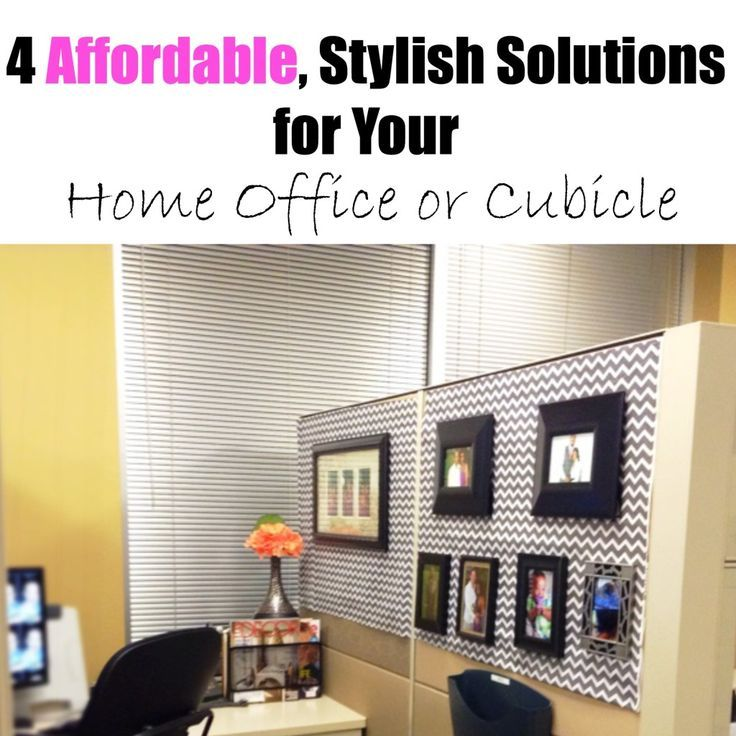 Cubicle Décor Ideas To Make Your Home Office Pop: Easy Ways To Decorate Your Office Space
