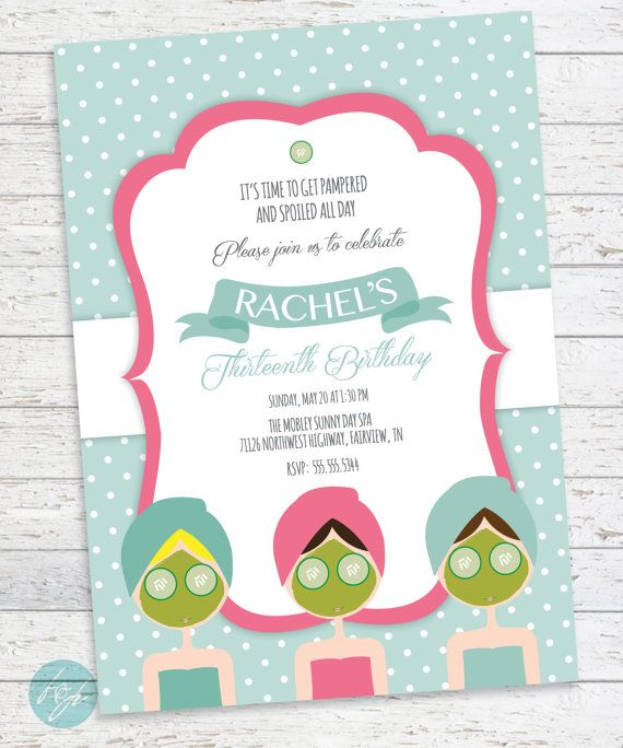 10 best Spa Party ideas images – Costco Birthday Invitations