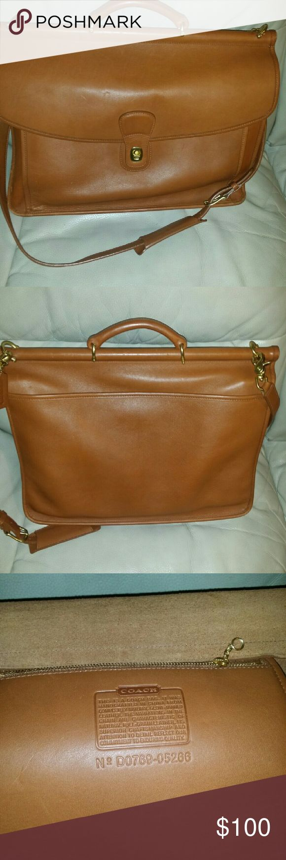 Coach briefcase Great used condition coach briefcase. price negotiable!! Coach Bags Crossbody Bags