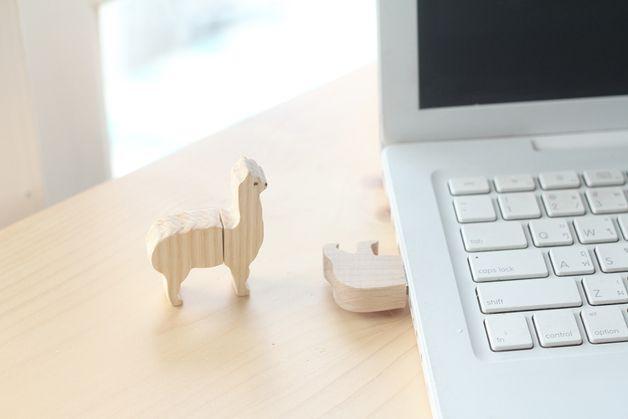 Otros - Alpaca memoria USB 16 GB - hecho a mano por minkislove en DaWanda