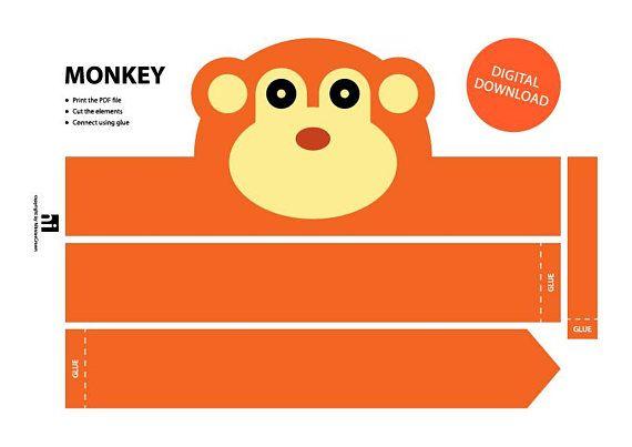 Monkey Paper Crown Printable Crown Template Animal Headband