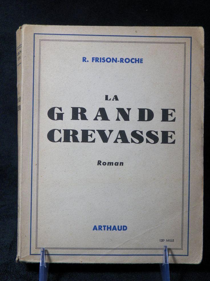 Livre LA GRANDE CREVASSE de  Frison-Roche| Edition Arthaud 1948 | Livre Vintage français de la boutique LovelyFrenchBooks sur Etsy