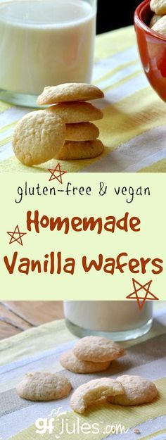 Yes! You can have 'Nilla Wafers again!!! Homemade Gluten Free Vanilla Wafers - vegan (egg-free) too! Dairy-free
