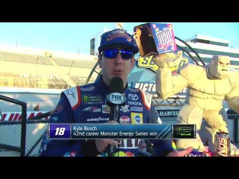 NASCAR Kyle Busch I hate it I kind of stole a win away from Chase Elliot at Dover 2017 - YouTube