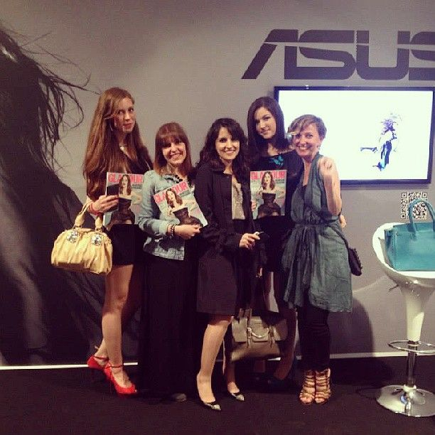 Blogging at #glamourliveshow for #Asus Italia