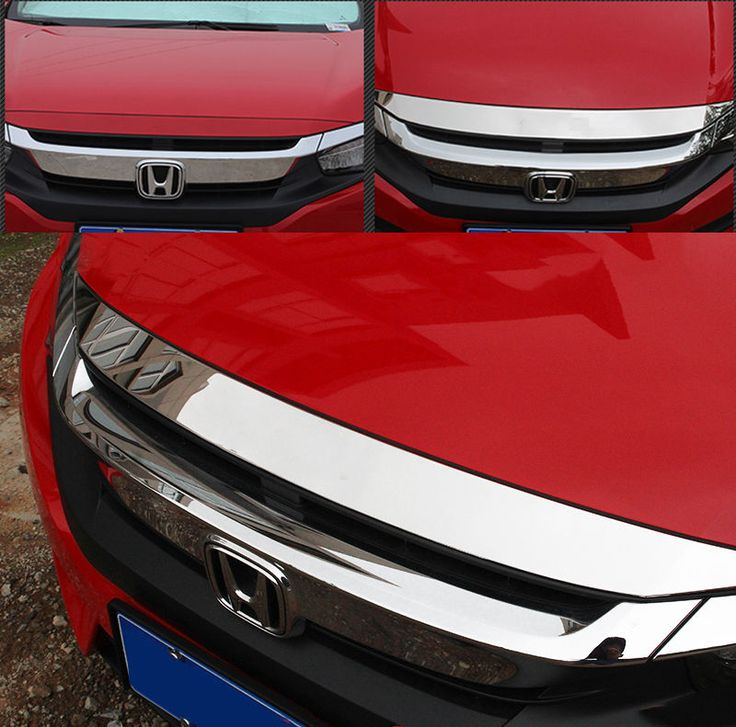 Fit for 2016 honda civic chrome front hood grill