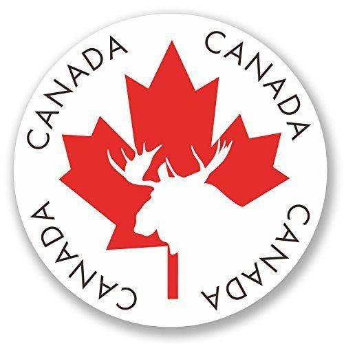 2x Sticker vinyle en Canada iPad Ordinateur Portable Voyage bagages Feuille Cadeau orignal Drapeau # 4338 – 10cm x 10cm: Votre stickers…