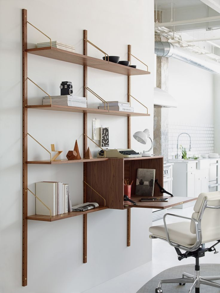 """""""Most of us live on the bottom of a cube. If we put the walls even with the floor, we get a lot of space to live on."""" –Poul Cadovius, designer Royal System Shelving."""