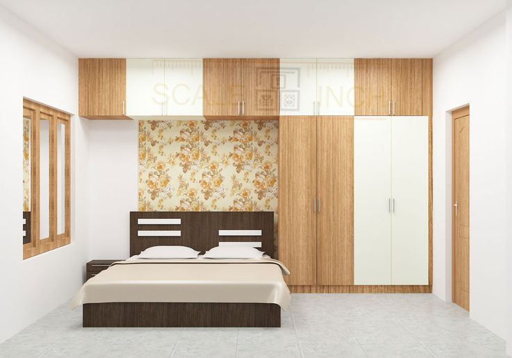 Modular bedroom set incorporating a bed, side table, wardrobe with loft. The presence of the bedroom gives stunning look to the entire space. Designing is well planned and offered to maximize floor space. Make your bedroom look clutter free with Scale Inch Avail utmost with quality work at the best price.
