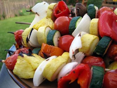 Shish Kebobs – Teriyaki Beef, Vegetable, and Lemon Basil Shrimp