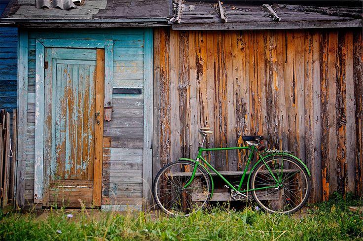 bicicleta, cabaña, campo, rústico, verde, 1610240851