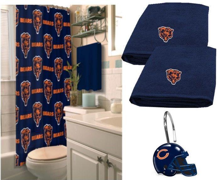 Chicago Bears Bathroom Set. Chicago Bears Nfl Deluxe Bath Set At Sportsfansplus Com