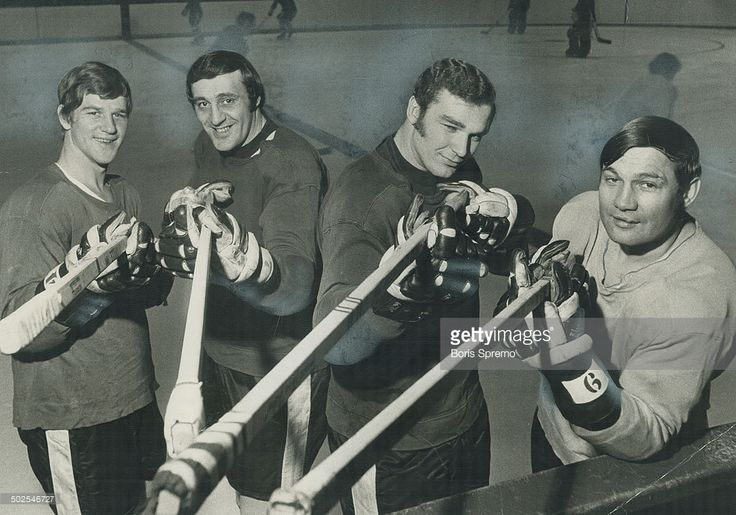 Murderers' row in boston: These four members of high-scoring Boston Bruins totalled 207 goals and 305 assists in 78 games this season; propelling their club to a record 57 victories in National Hockey League's East Division. From left; they are Bobby Orr (37-102); Phil Esposito (76-76); Ken Hodge (43-62) and Johnny Bucyk (51-65); Stopping them is aweson to facing Montreal Canadiens' defence and goalies Stanley Cup quarter-final opens in Boston Tonight [Incomplete]