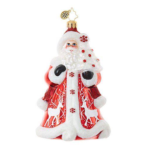 Christopher Radko Crimson Kris Kringle Ornament