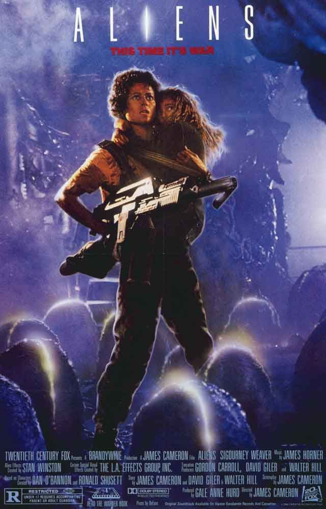 "A great Aliens movie poster! Sigourney Weaver returns as ""Lt Ripley"" in James…"