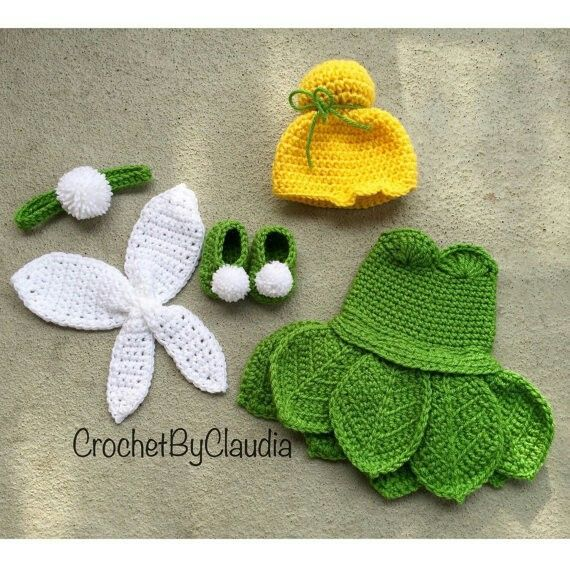 Free Crochet Patterns For Baby Halloween Costumes : Oh my goodness. Crochet Tinkerbell costume. crochet ...
