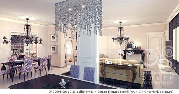 Дизайн кухни-гостиной в стиле ар-деко  http://www.ok-interiordesign.ru/blog/stil-art-deko-v-dizayne-kvartir.html