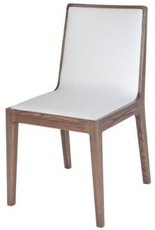 CH-HUD-GA Hudson Dining Chair Hudson Dining Chair - Grey Ash Ash Veneer Frame with PVC Upholstery (Walnut with White PVC or Grey Ash with Grey PVC) Dimensions:  430 x 510 x 820