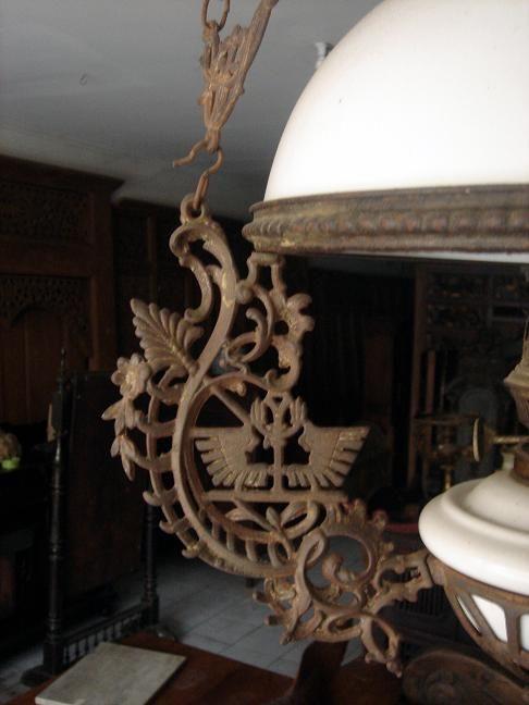 Antique Oil Lamp Chandelier | us $ 1800 info @ eastjava antique com javanese lighting