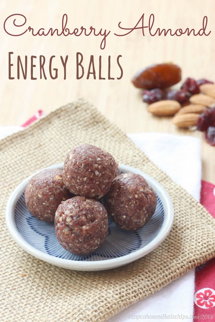 Cranberry Almond Energy Balls (and Baby Bites) with only four ingredients | cupcakesandkalechips.com | #glutenfree #vegan #snack