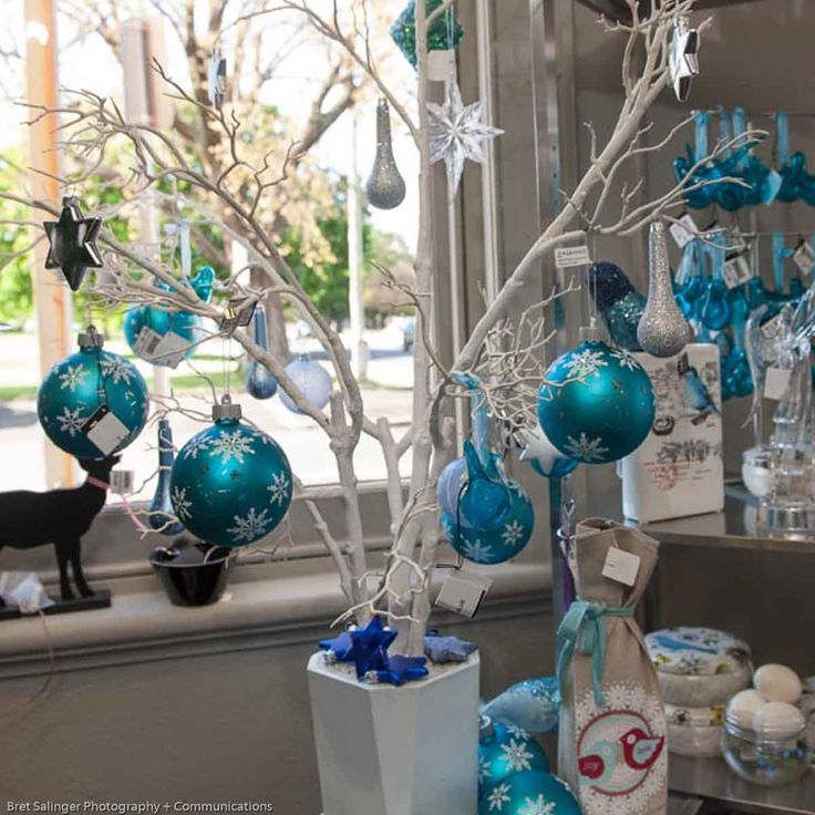 Blue and White Christmas Ornament