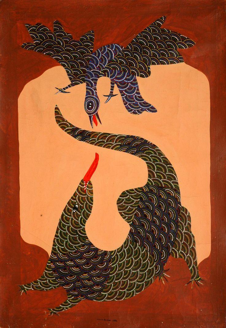 INDIAN TRIBAL ART( GOND)  ARTIST: JANGARH SINGH SHYAM