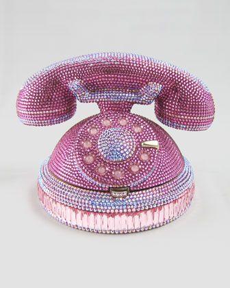 Ringaling Rotary Phone Minaudiere, Pink by Judith Leiber at Neiman Marcus.
