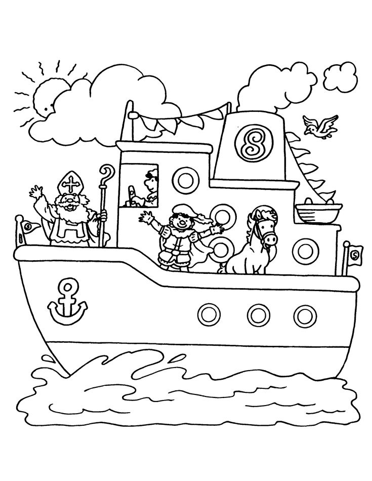 sinterklaas coloring pages - photo#44