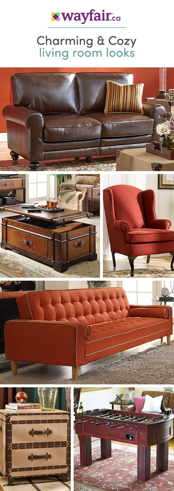 Sit back and save! We've got everything you need to bring that much-needed spice into your living area - accent chairs, sofas, loveseats, and more for any style. Get access to exclusive deals at up to 70% OFF and enjoy FREE SHIPPING on all orders over $75 at Wayfair! Sign up and shop now!